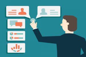 Concept of Customer Relationship Management - vector illustration